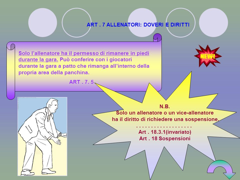 ART.47 ARBITRI: DOVERI E POTERI Se larbitro si infortuna o, per qualsiasi altra ragione, non può continuare il suo compito, entro cinque (5) minuti da