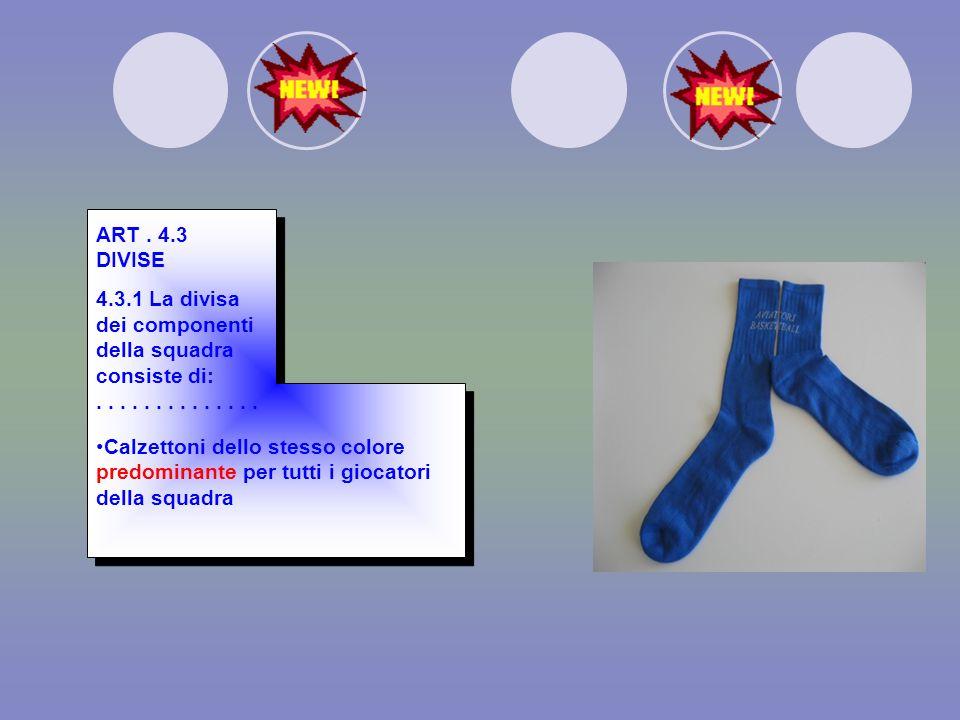 AREA DI TIRO DA TRE PUNTI La distanza delle linee del tiro da tre punti è m. 6,75. ART. 2.4.4