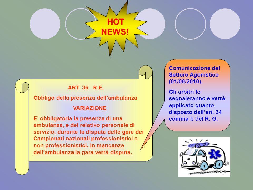 ART. 4.4 ALTRO EQUIPAGGIAMENTO ART. 4.4.2 SONO PERMESSI Scaldamuscoli che fuoriescano dai pantaloncini dello stesso colore dominante dei pantaloncini