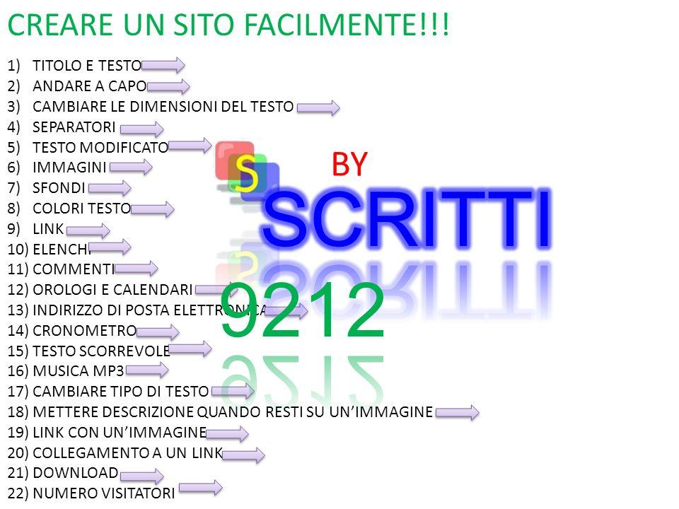CREARE UN SITO FACILMENTE!!.