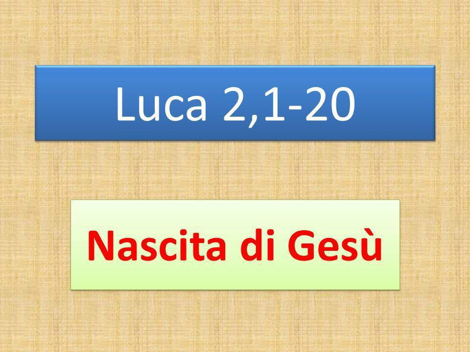 Luca 2,1-20 Nascita di Gesù