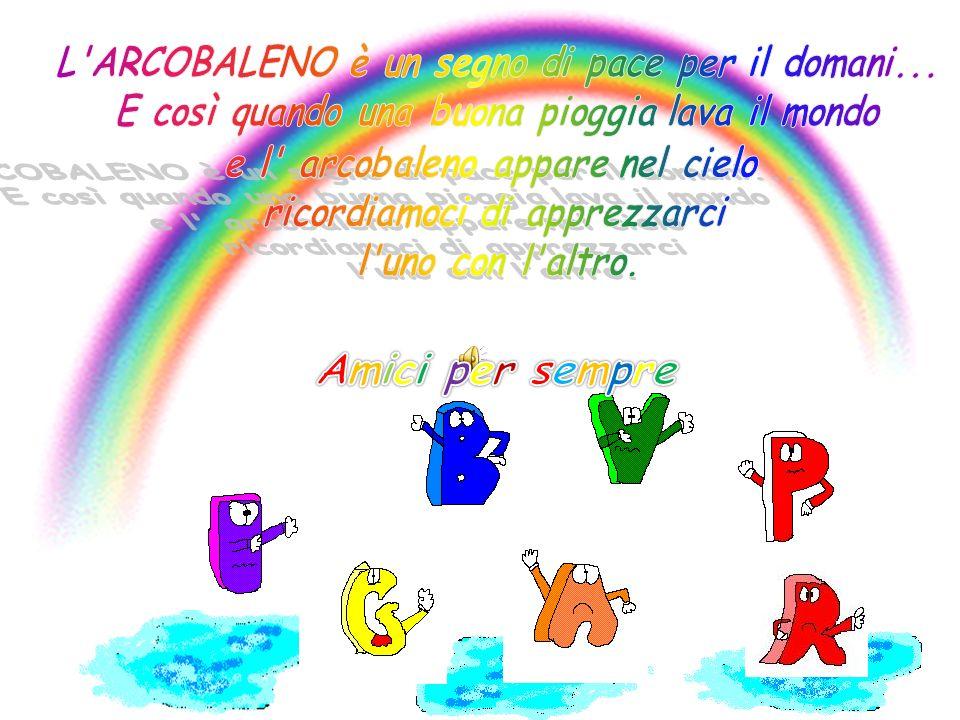 Dora in poi, quando pioverà ognuno di voi si distenderà attraverso il cielo in un grande arco di colori,per ricordare che voi vivete tutti in pace.