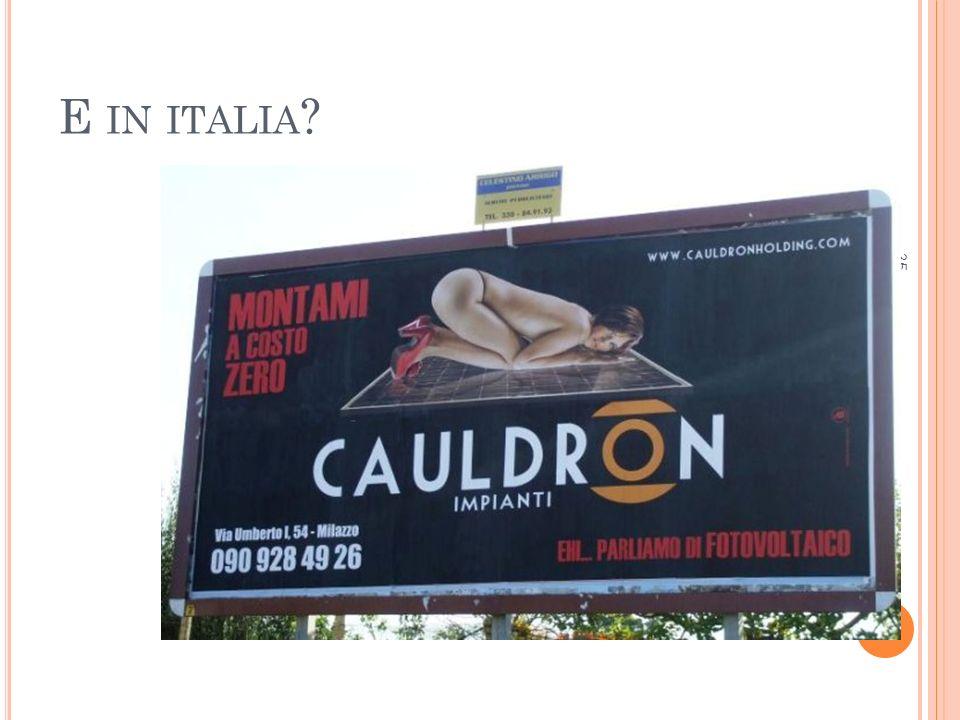 E IN ITALIA ? 35