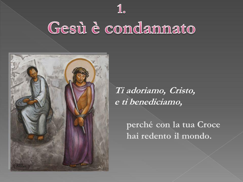 LETTURA Lc 23,20-25 RIFLESSIONE Gesù, come tutti gli agnelli innocenti di ogni latitudine, rinuncia alla violenza, affrontando con la forza della mitezza la sua condanna.