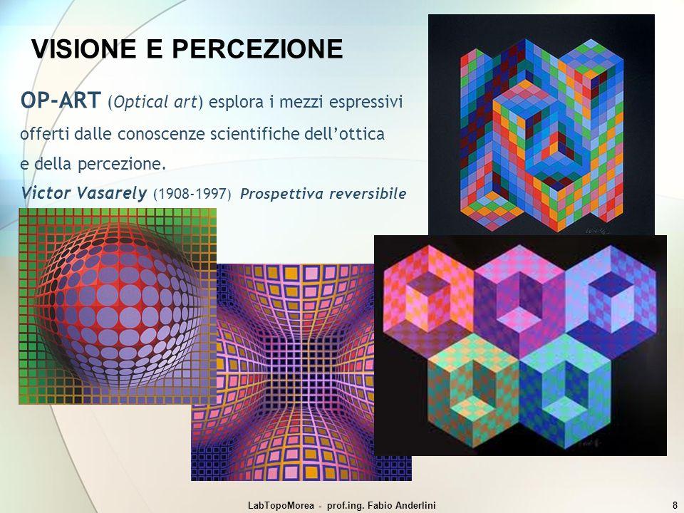 LabTopoMorea - prof.ing. Fabio Anderlini8 VISIONE E PERCEZIONE OP-ART (Optical art) esplora i mezzi espressivi offerti dalle conoscenze scientifiche d
