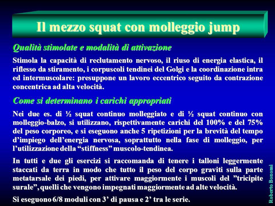 Roberto Bonomi Il mezzo squat con molleggio con e senza jump