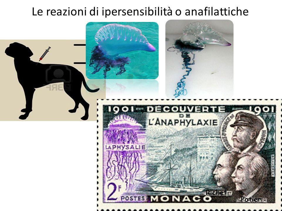 Le reazioni di ipersensibilità o anafilattiche Potier Richet