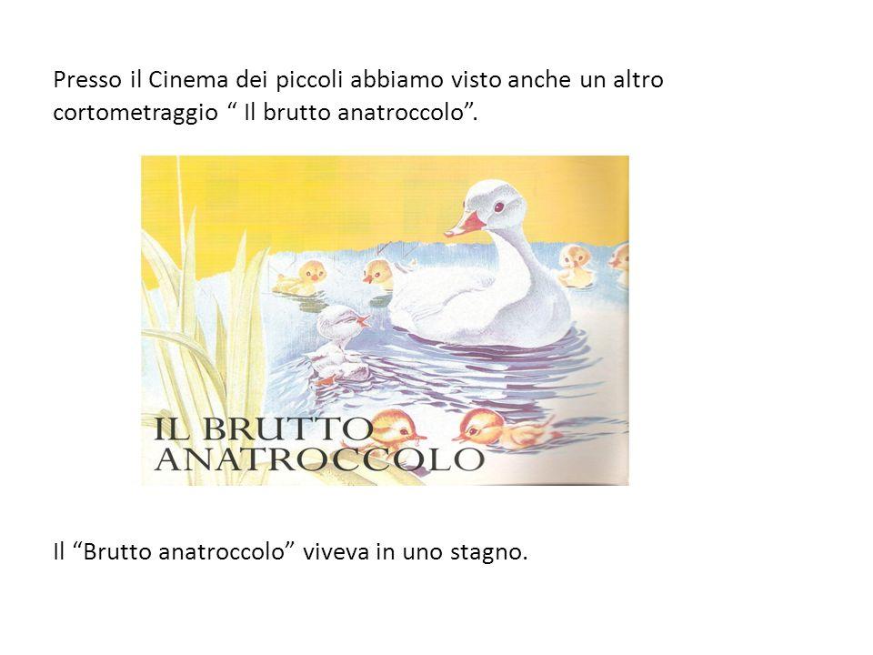 Presso il Cinema dei piccoli abbiamo visto anche un altro cortometraggio Il brutto anatroccolo. Il Brutto anatroccolo viveva in uno stagno.