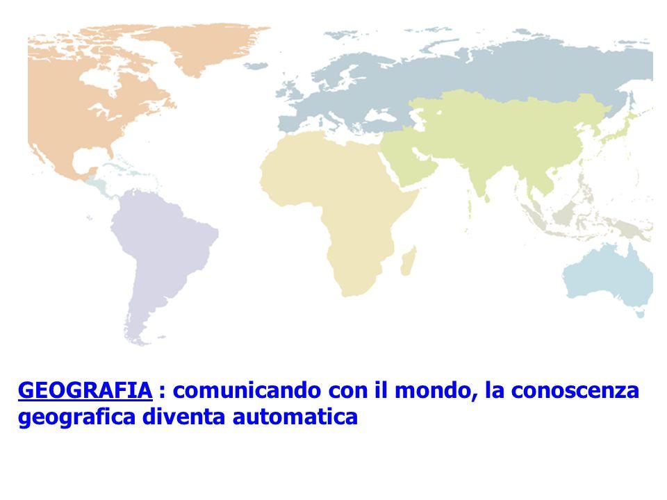 GEOGRAFIA : comunicando con il mondo, la conoscenza geografica diventa automatica