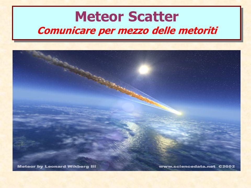 Meteor Scatter Comunicare per mezzo delle metoriti Meteor Scatter Comunicare per mezzo delle metoriti