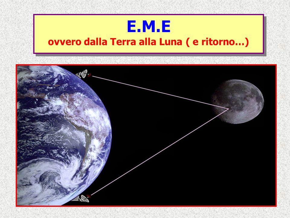 E.M.E ovvero dalla Terra alla Luna ( e ritorno…) E.M.E ovvero dalla Terra alla Luna ( e ritorno…)