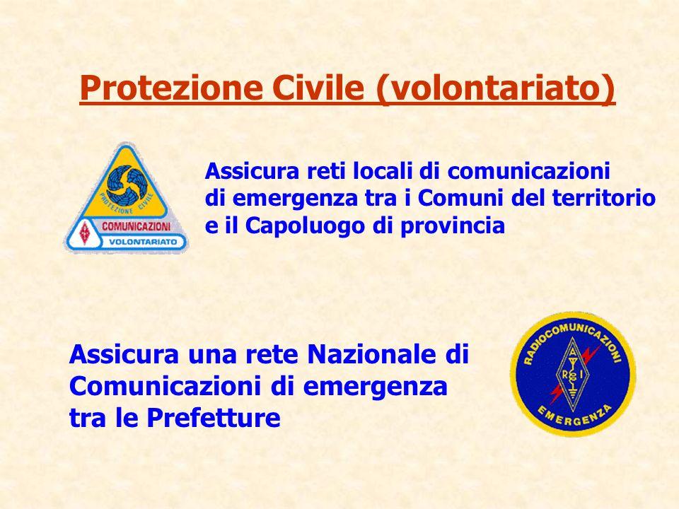 Assicura una rete Nazionale di Comunicazioni di emergenza tra le Prefetture Assicura reti locali di comunicazioni di emergenza tra i Comuni del territ