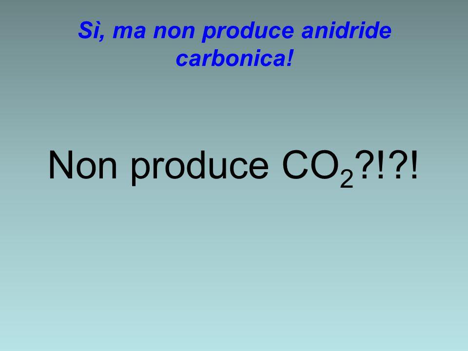Sì, ma non produce anidride carbonica! Non produce CO 2 ?!?!