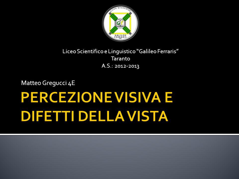 Matteo Gregucci 4E Liceo Scientifico e Linguistico Galileo Ferraris Taranto A.S.: 2012-2013