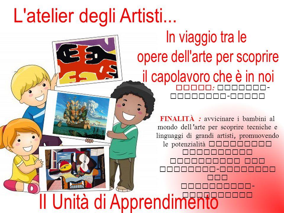 TEMPO : Gennaio - febbraio - Marzo FINALITÀ : avvicinare i bambini al mondo dell arte per scoprire tecniche e linguaggi di grandi artisti, promuovendo le potenzialità estetiche attraverso esperienze sia fruitivo - creative che espressivo - artistiche