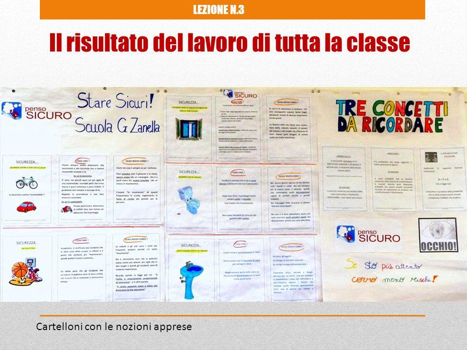 Cartelloni con le nozioni apprese LEZIONE N.3 Il risultato del lavoro di tutta la classe