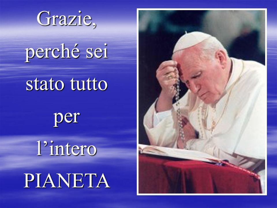 Ed oggi con la sua prima Lettera Enciclica DEUS CARITAS EST ci dice di continuare ad amare come tu ci hai insegnato. L'amore - caritas - sarà sempre n