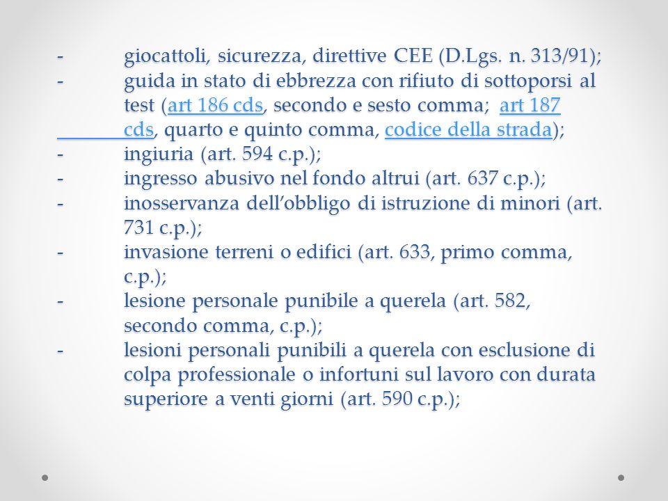 -giocattoli, sicurezza, direttive CEE (D.Lgs.n.