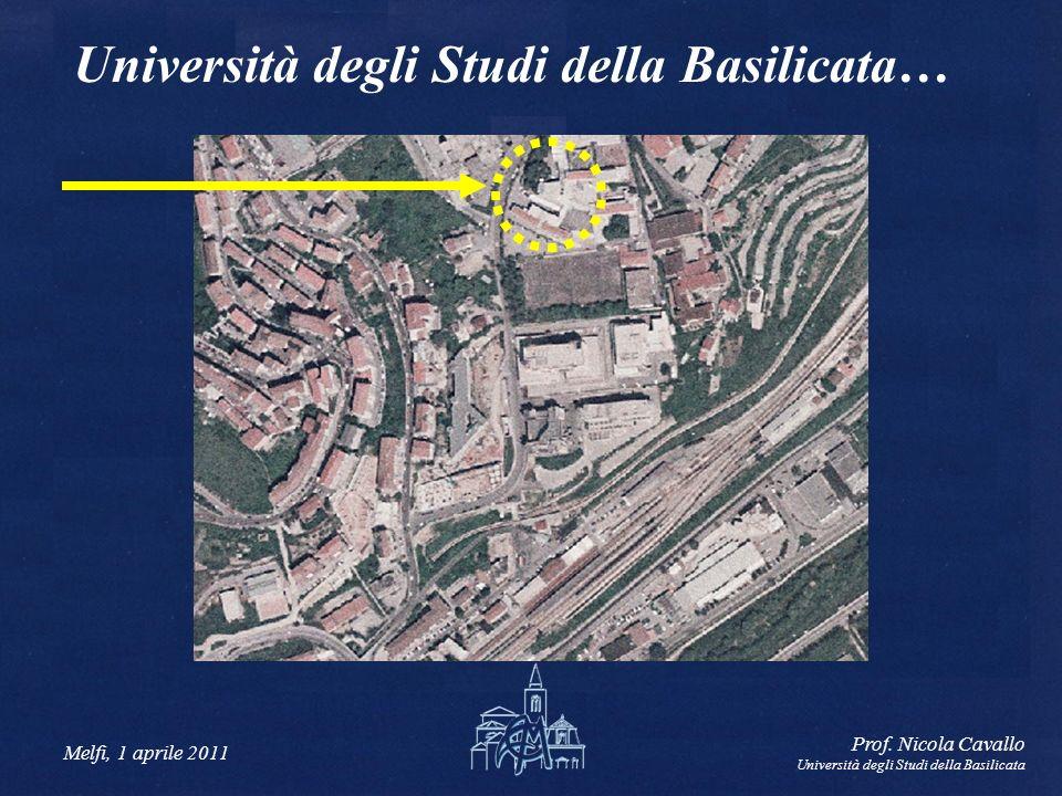 Melfi, 1 aprile 2011 Prof. Nicola Cavallo Università degli Studi della Basilicata Università degli Studi della Basilicata…