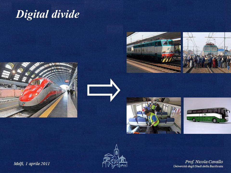 Melfi, 1 aprile 2011 Prof. Nicola Cavallo Università degli Studi della Basilicata Digital divide