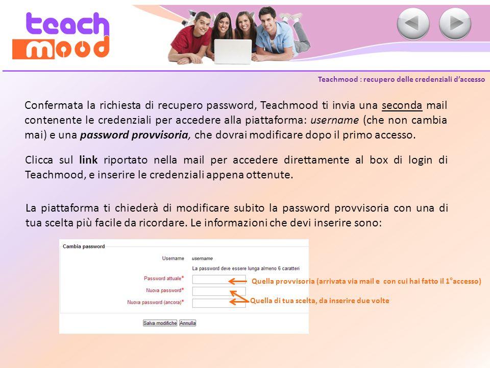 Teachmood : navigare in piattaforma Lhome page di Teachmood è organizzata in unarea risorse centrale, che elenca tutti i corsi disponibili in piattaforma, e in blocchi funzionali di navigazione posizionati nelle parti laterali destra e sinistra della pagina: Blocchi funzionali Blocchi funzionali Area risorse