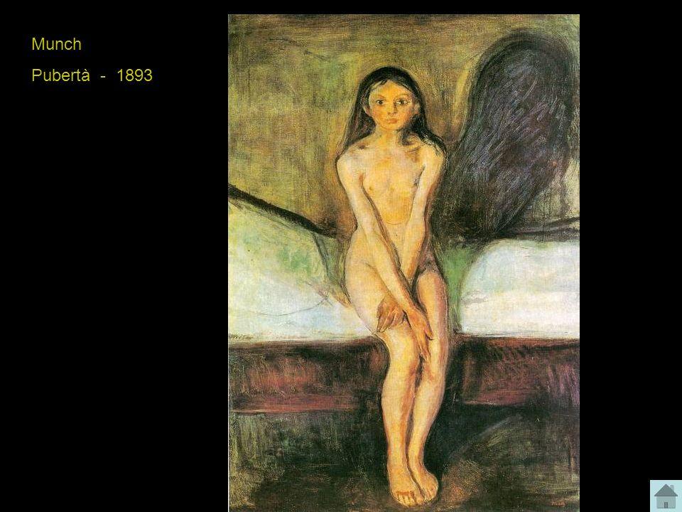 Munch Pubertà - 1893