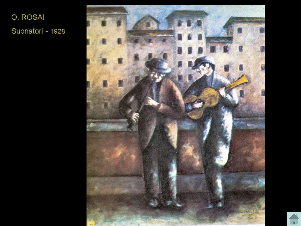 O. ROSAI Suonatori - 1928