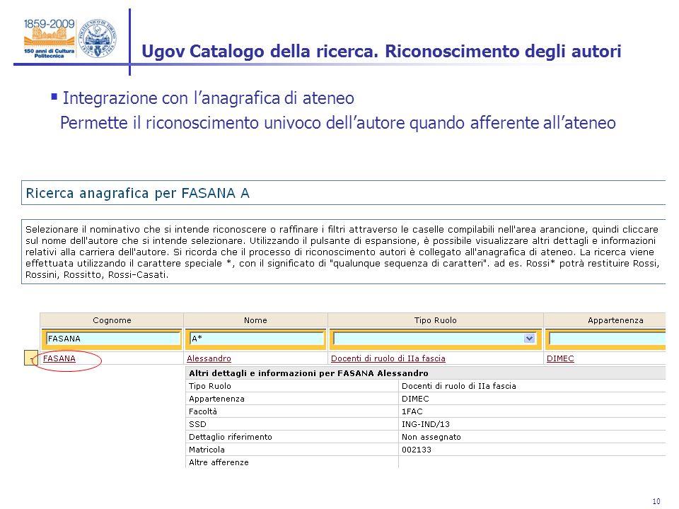 10 Ugov Catalogo della ricerca.
