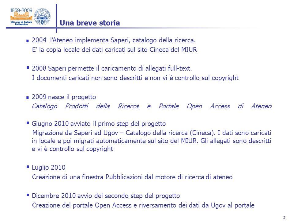 3 3 2004 lAteneo implementa Saperi, catalogo della ricerca.