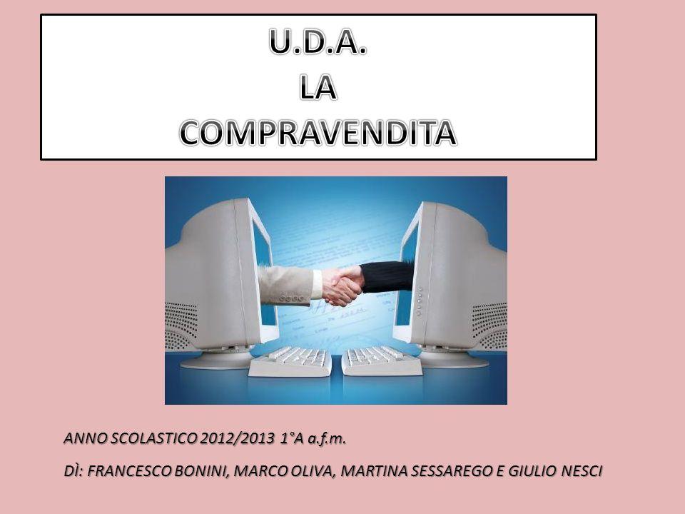 ANNO SCOLASTICO 2012/2013 1°A a.f.m. DÌ: FRANCESCO BONINI, MARCO OLIVA, MARTINA SESSAREGO E GIULIO NESCI