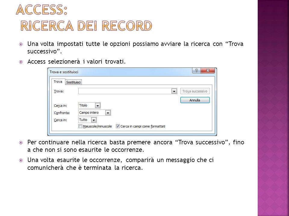 Come accennato in Access le tabelle di un database si possono relazionare tra di loro.