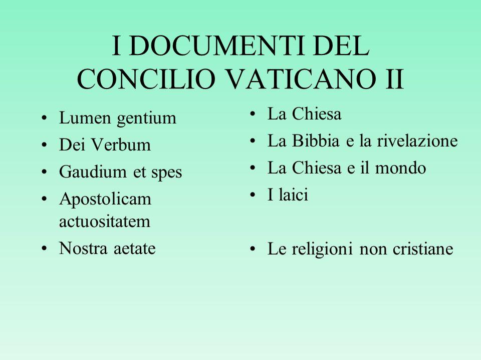 IL CONCILIO VATICANO II CONVOCATO DA PAPA GIOVANNI XXIII Annunciato nel 1959, ebbe inizio nel 1962, si concluse nel 1965. Finalità pastorali: avvicina