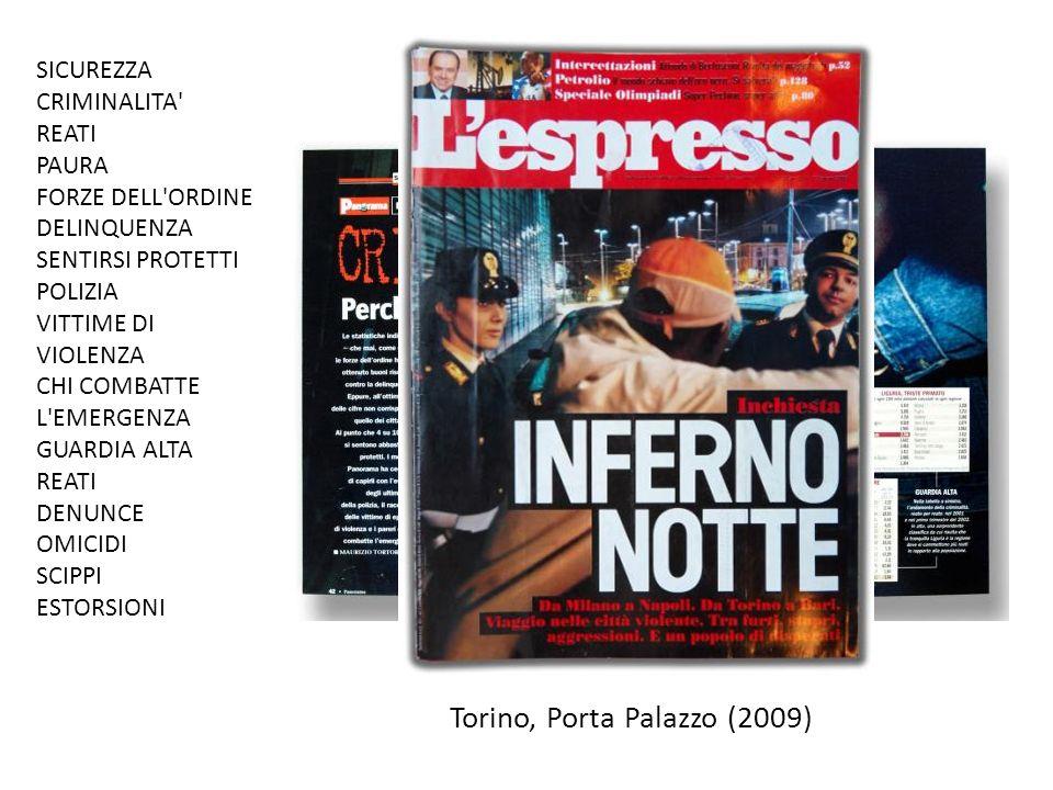SICUREZZA CRIMINALITA REATI PAURA FORZE DELL ORDINE DELINQUENZA SENTIRSI PROTETTI POLIZIA VITTIME DI VIOLENZA CHI COMBATTE L EMERGENZA GUARDIA ALTA REATI DENUNCE OMICIDI SCIPPI ESTORSIONI Torino, Porta Palazzo (2009)