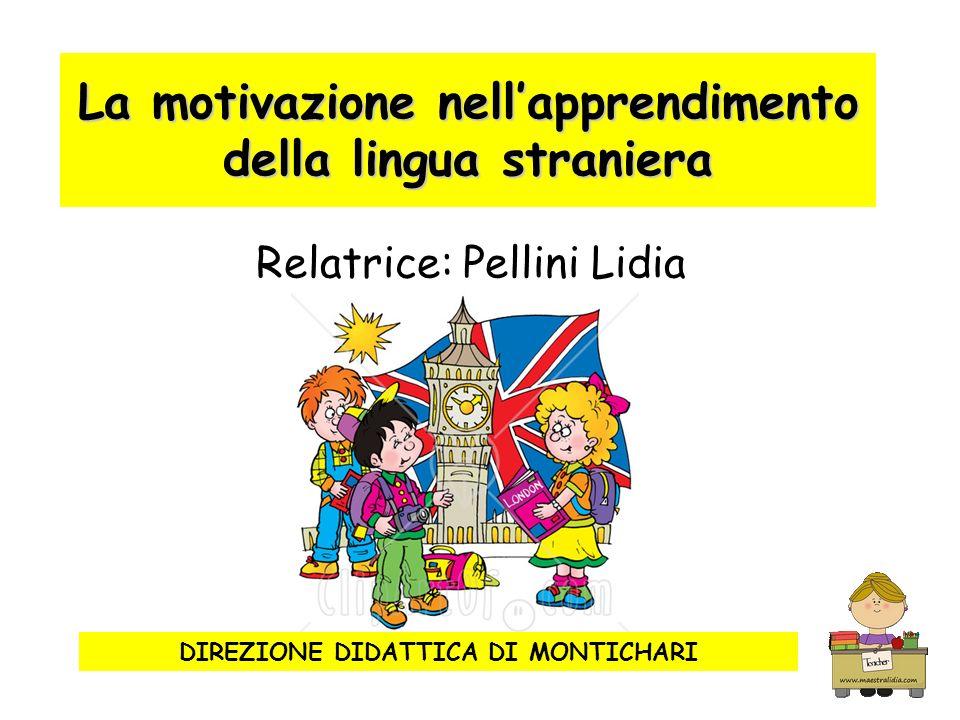 La motivazione nellapprendimento della lingua straniera Relatrice: Pellini Lidia DIREZIONE DIDATTICA DI MONTICHARI