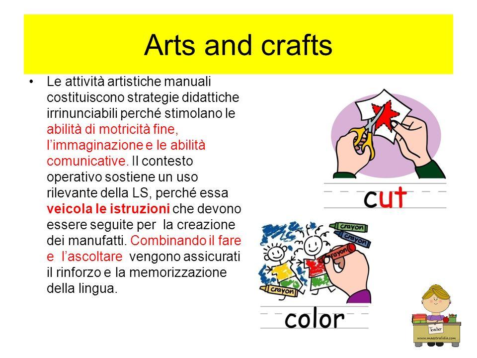 Arts and crafts Le attività artistiche manuali costituiscono strategie didattiche irrinunciabili perché stimolano le abilità di motricità fine, limmag