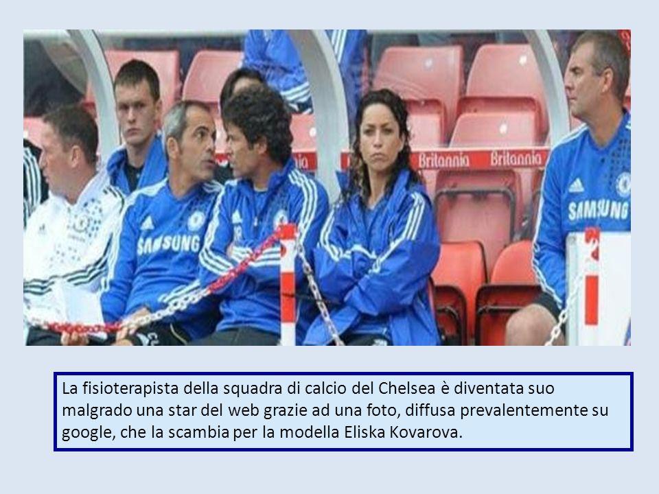 La fisioterapista della squadra di calcio del Chelsea è diventata suo malgrado una star del web grazie ad una foto, diffusa prevalentemente su google,