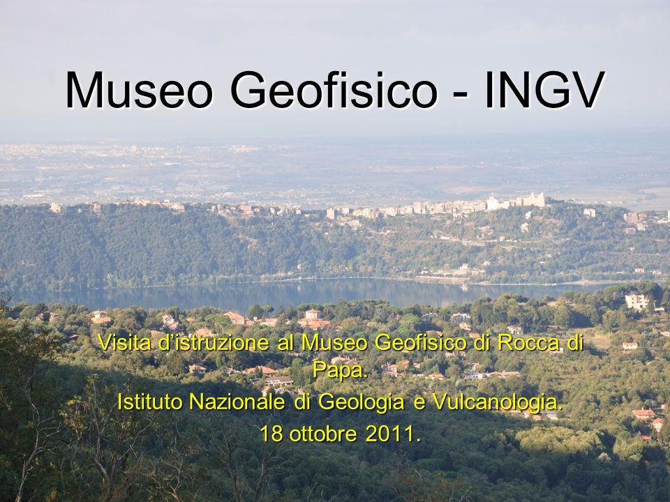 Museo Geofisico - INGV Visita distruzione al Museo Geofisico di Rocca di Papa. Istituto Nazionale di Geologia e Vulcanologia. 18 ottobre 2011.