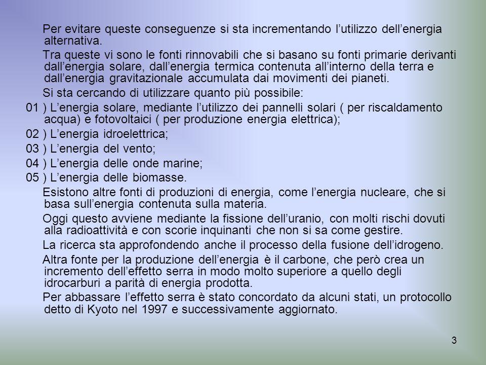 54..Le soluzioni per ridurre l effetto serra..