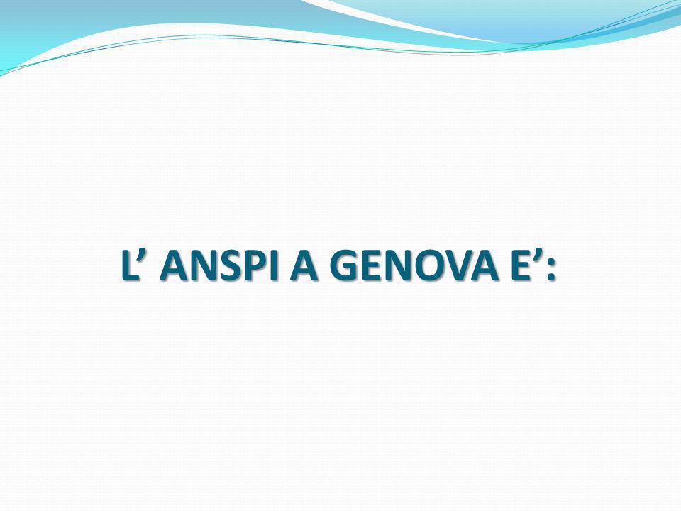 L ANSPI A GENOVA E: