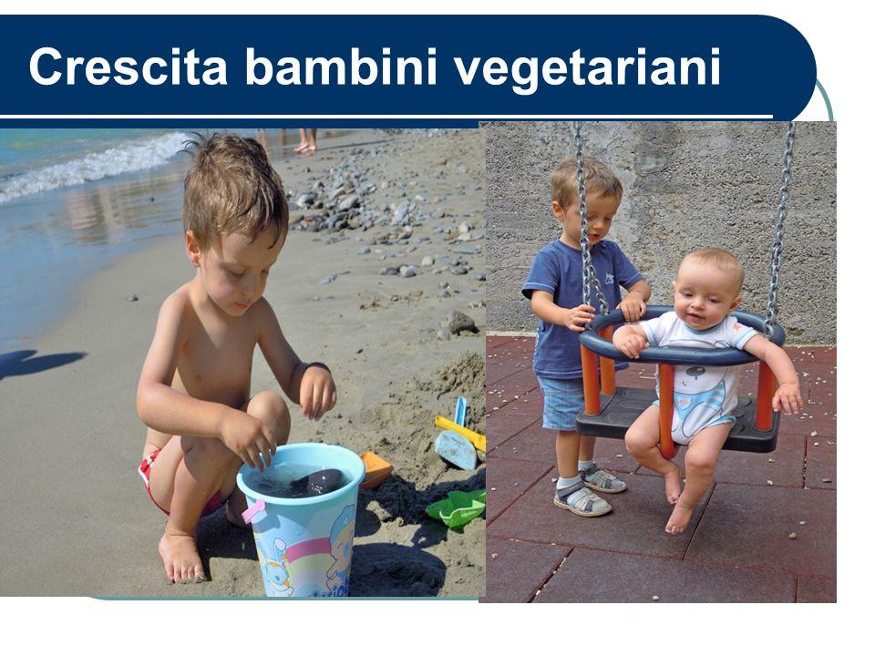 Crescita bambini vegetariani