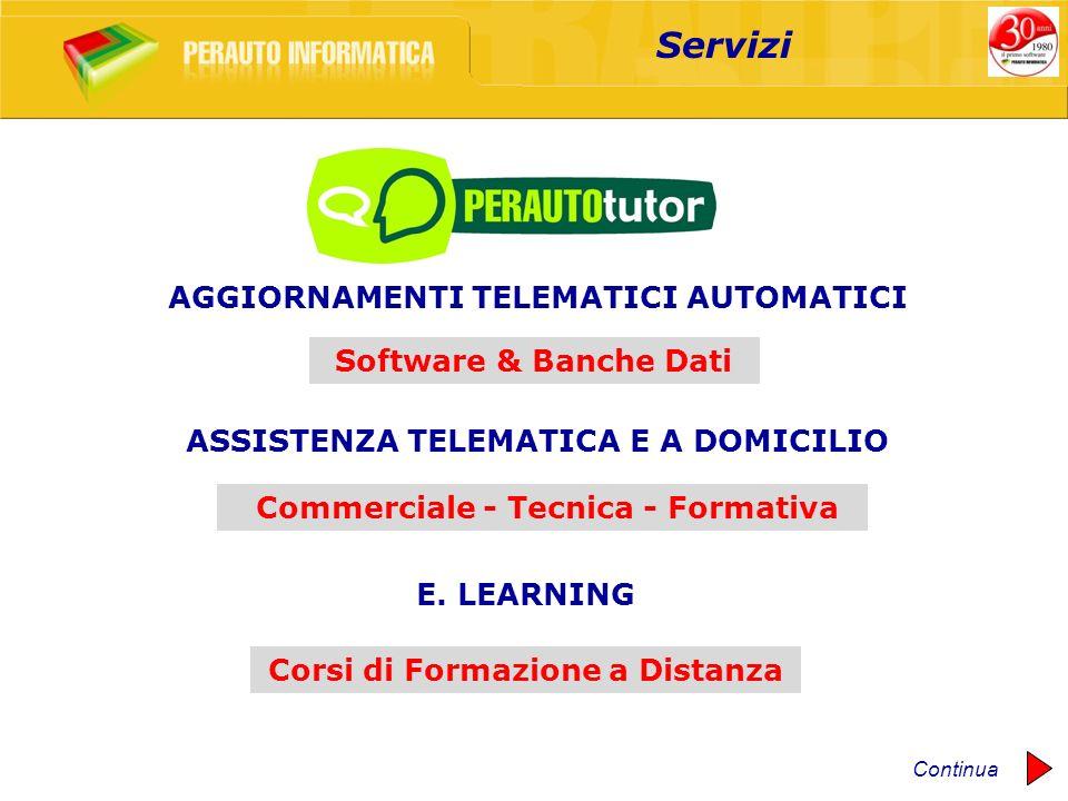 Software & Banche Dati Commerciale - Tecnica - Formativa Corsi di Formazione a Distanza Servizi AGGIORNAMENTI TELEMATICI AUTOMATICI ASSISTENZA TELEMAT