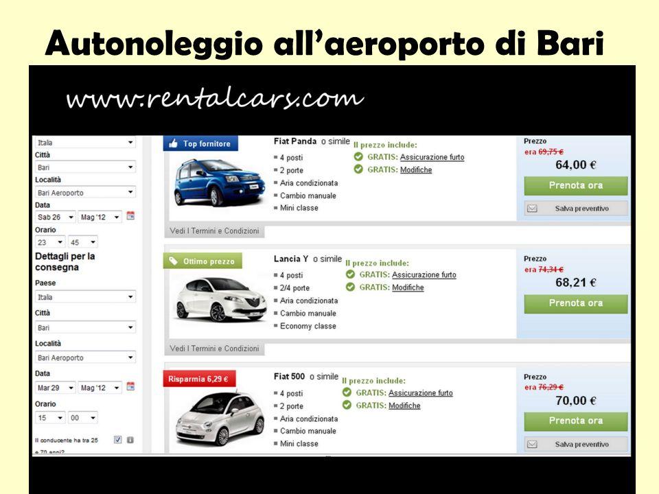 Autonoleggio allaeroporto di Bari