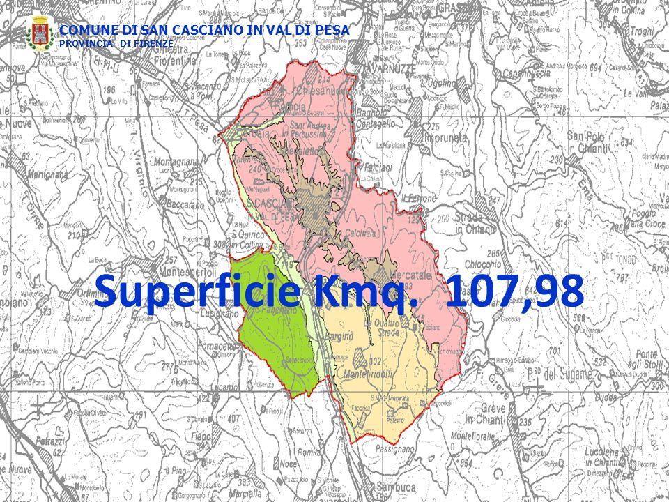 COMUNE DI SAN CASCIANO IN VAL DI PESA PROVINCIA DI FIRENZE Superficie Kmq. 107,98
