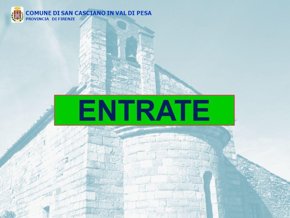 ENTRATE COMUNE DI SAN CASCIANO IN VAL DI PESA PROVINCIA DI FIRENZE