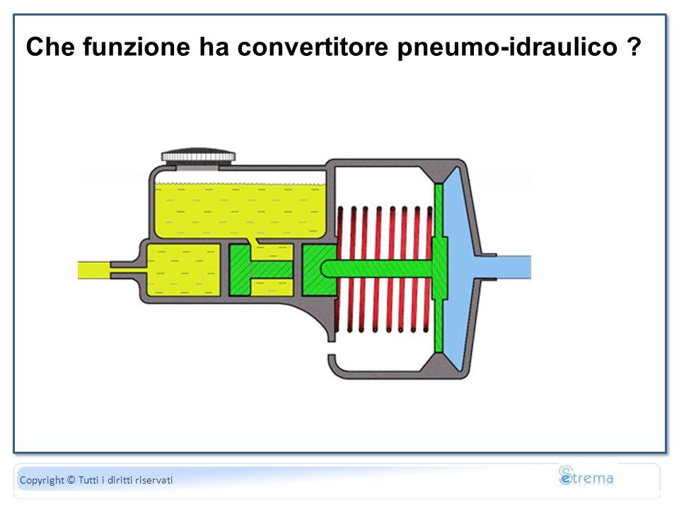 La forza peso è uguale al di gravità Copyright © Tutti i diritti riservati Che funzione ha convertitore pneumo-idraulico ?