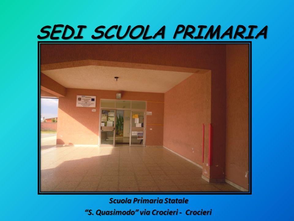 Scuola Primaria Statale Scuola Primaria Statale S. Quasimodo via Crocieri - Crocieri SEDI SCUOLA PRIMARIA