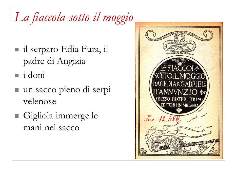 La fiaccola sotto il moggio il serparo Edia Fura, il padre di Angizia i doni un sacco pieno di serpi velenose Gigliola immerge le mani nel sacco