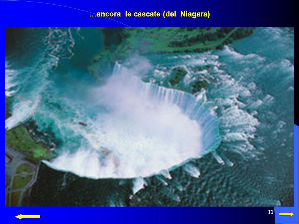 10 … forma le cascate (del Niagara)