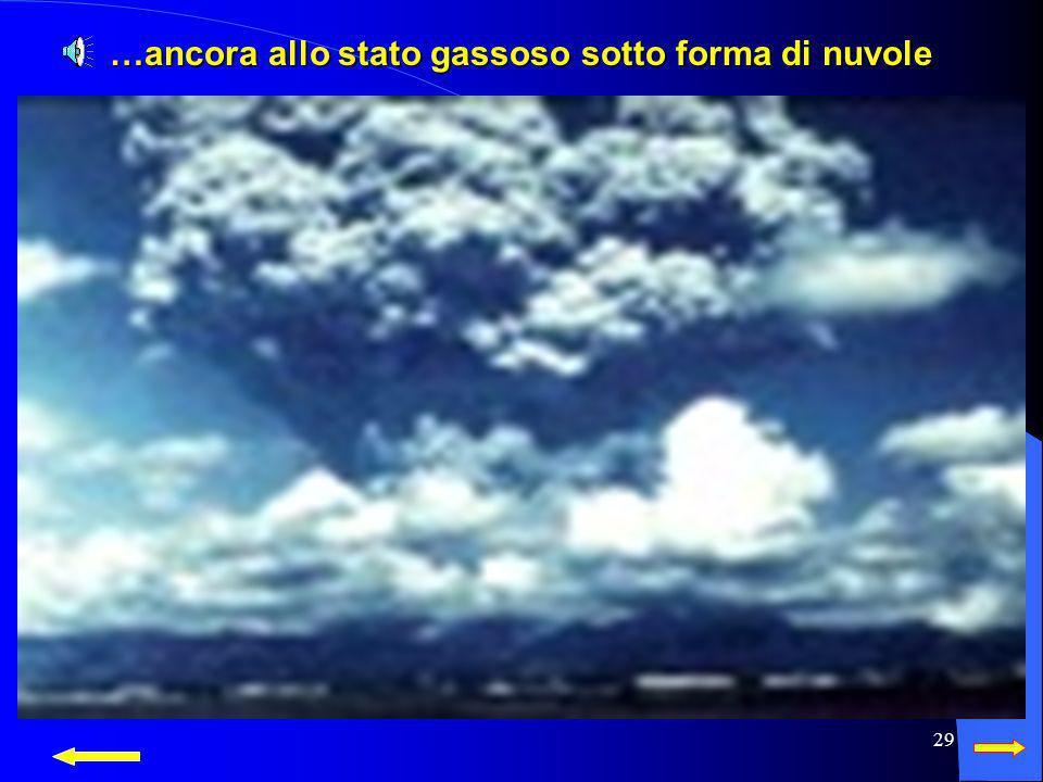 28 Ecco come si presenta allo stato gassoso sotto forma di nuvole Ecco come si presenta allo stato gassoso sotto forma di nuvole