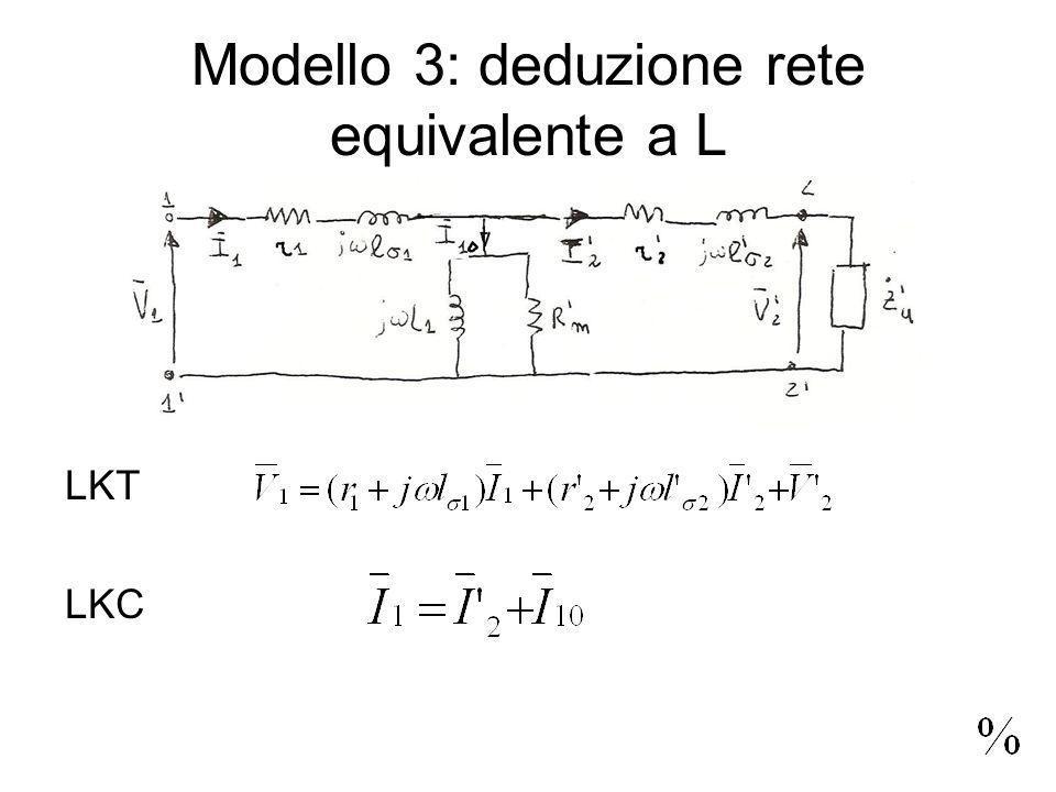 Modello 3: deduzione rete equivalente a L LKT LKC